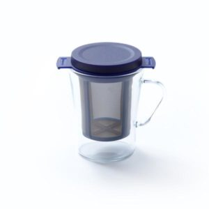 GLASS TEA CUP WITH TEA STRAINER